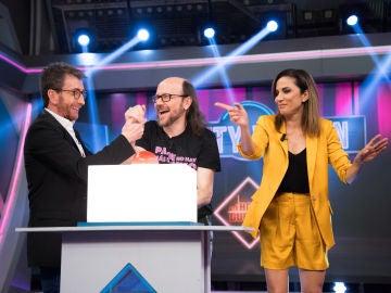 Toni Acosta y Santiago Segura demuestran sus dotes musicales en 'El Hormiguero 3.0'