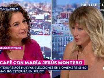 """María Jesús Montero: """"Nunca hemos querido repetir elecciones, no hay otra alternativa a Sánchez"""""""