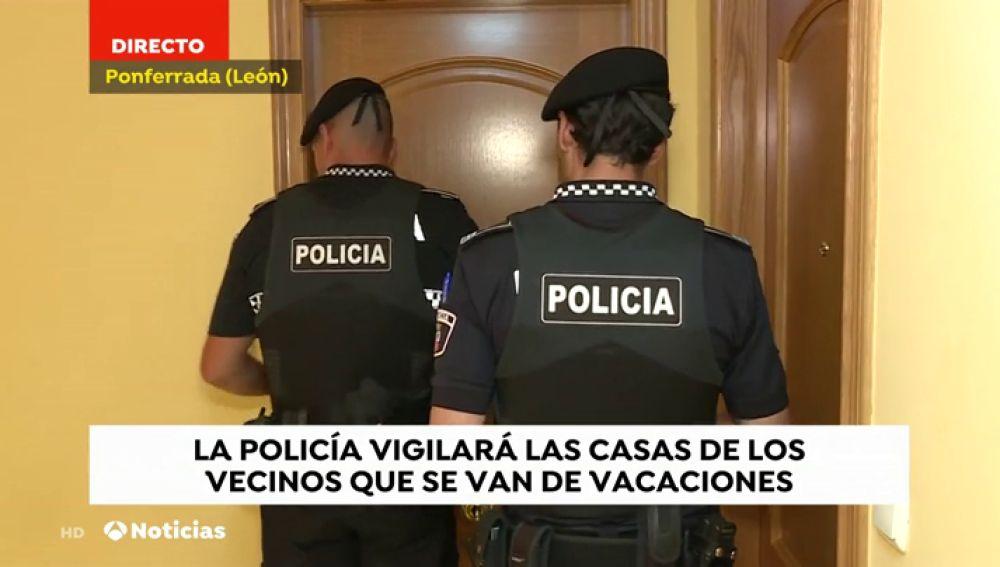 La Policía vigilará las casas de los vecinos de Ponferrada que se van de vacaciones