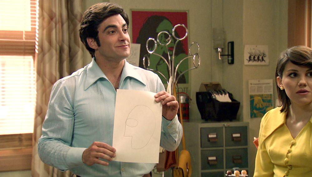 Miguel logra dibujar la portada del 'Hasta luego'