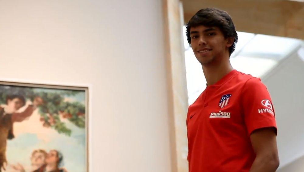Joao Félix, con la camiseta del Atlético de Madrid