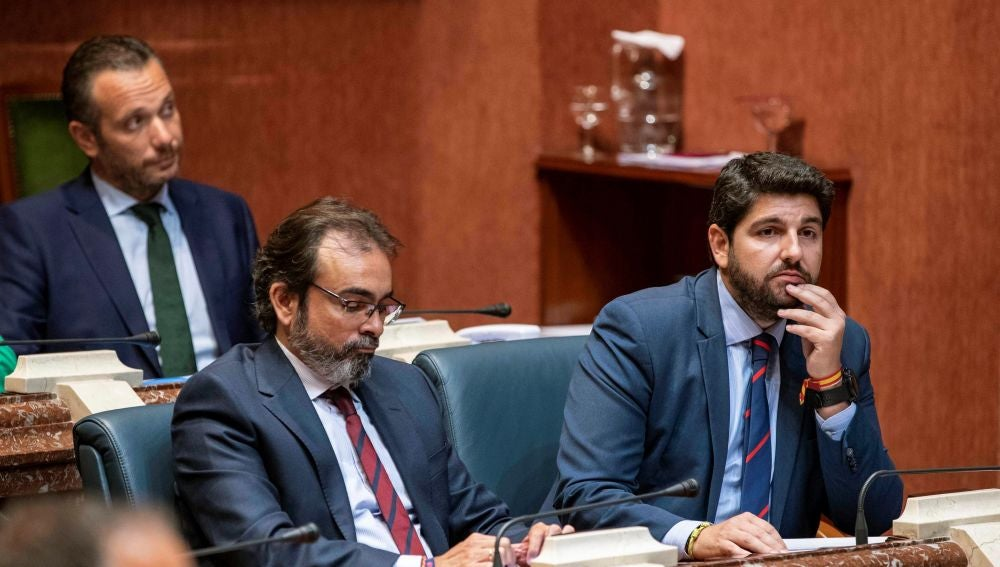 El candidato a la presidencia de la Comunidad de Murcia Fernando López Miras