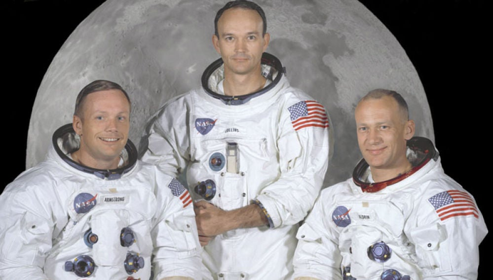 (De izda. a dcha.) Neil Armstrong, Michael Collins y Buzz Aldrin, tripulación del Apolo 11.