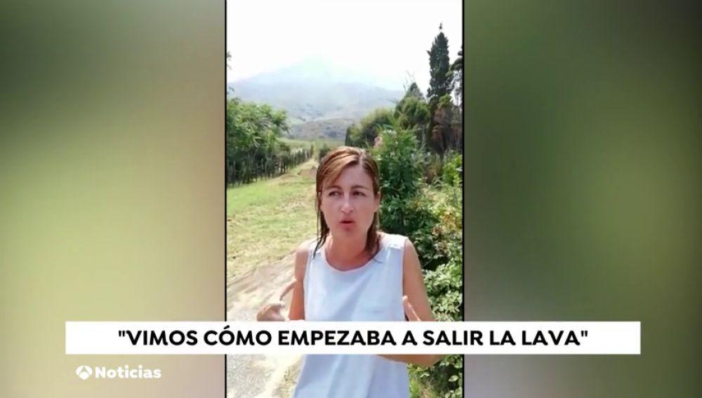 Una española testigo de la erupción del volcán Estrómboli