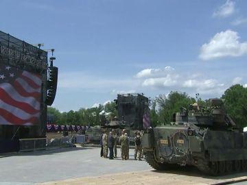 Trump saca al ejército a la calle para la fiesta del 4 de julio