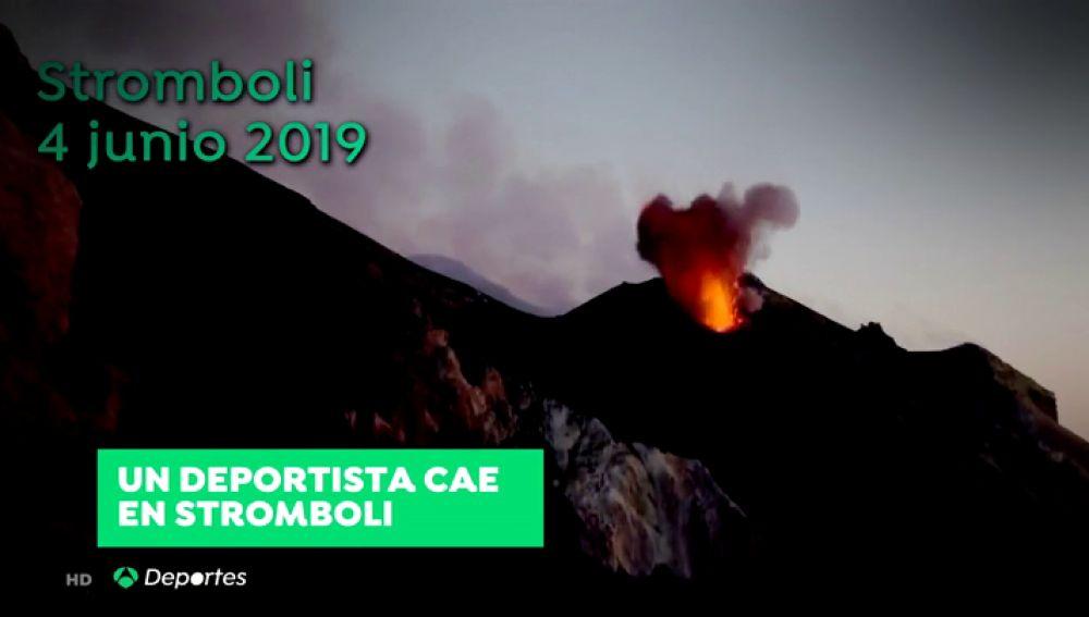 Un deportista pierde la vida al entrar en erupción el volcán Stromboli