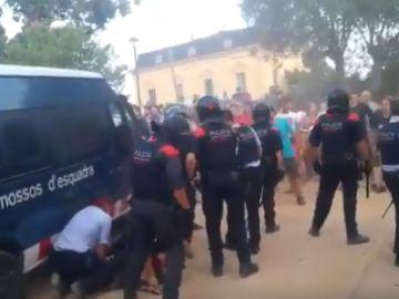 Enfrentamientos en El Masnou