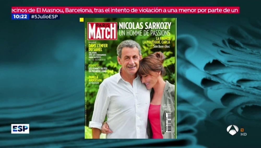 La portada en la que Sarkozy es más alto que Carla Bruni, objeto de burlas en redes sociales
