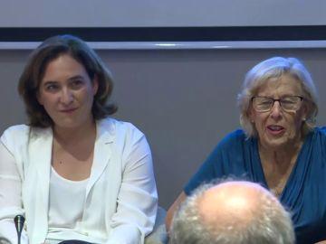 Una mujer llama 'carapolla' a Almeida y Carmena le dice que le dará 'un coscorrón'