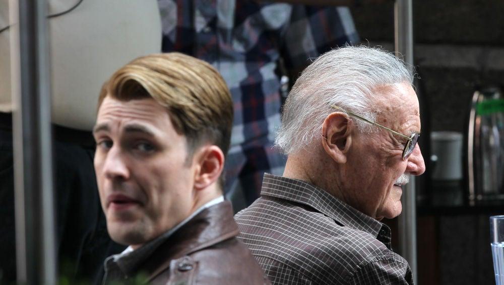 Chris Evans y Stan Lee