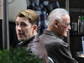 Chris Evans y Stan Lee