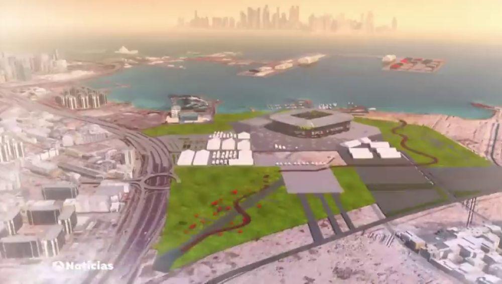 Qatar construye el primer estadio desmontable diseñado por un estudio español.