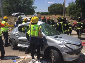 Accidente múltiple en la A-42
