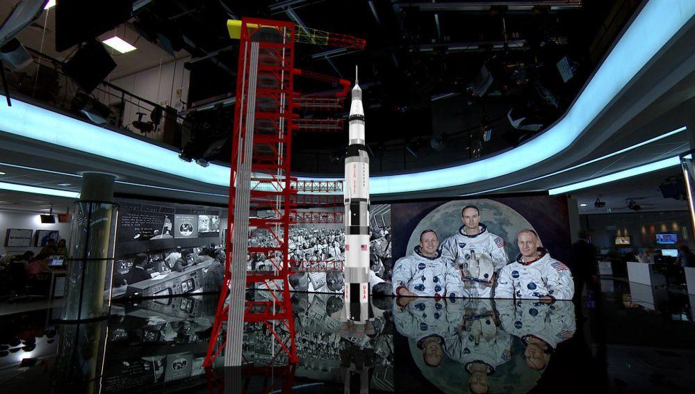 El hombre en La Luna 50 años - Antena 3 Noticias recrea la llegada del hombre a la Luna en realidad aumentada