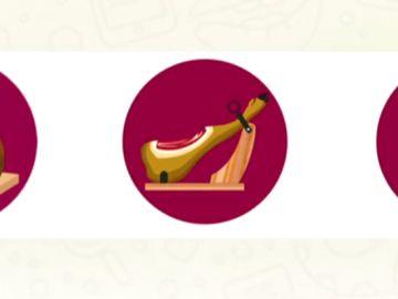 El emoji del jamón
