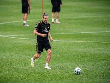Gareth Bale, durante un entrenamiento con el Real Madrid