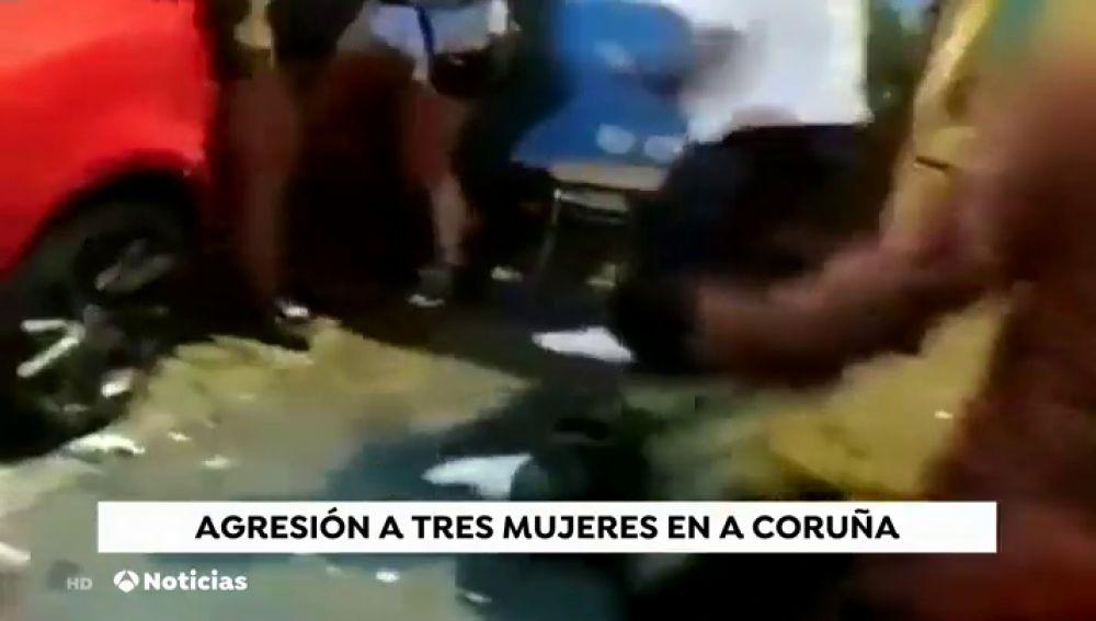 Un hombre agrede a varias mujeres tras recriminarle un abuso sexual en A Coruña