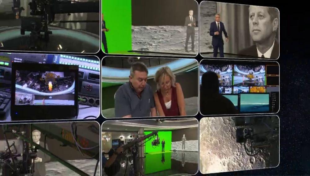 Así hemos realizado la recreación del Apolo 11 en el plató de Antena 3 Noticias con realidad aumentada