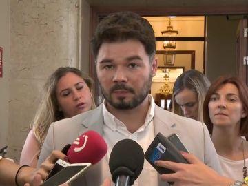 """Rufián sobre la investidura: """"La parte contratante de la primera parte. Un lío"""""""