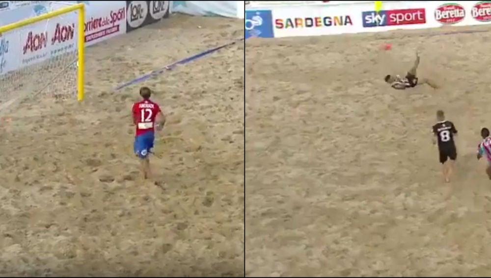La increíble chilena desde 25 metros que alucina al mundo del fútbol