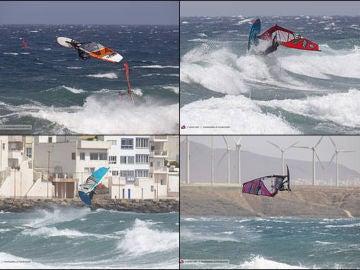 Las Islas Canarias recoge la primera prueba de olas en el Mundial de windsurf