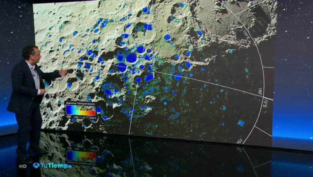 Mediciones de la NASA detectan posibles cristales de hielo en la Luna