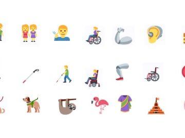 Algunos de los nuevos emojis que se estrenarán en otoño
