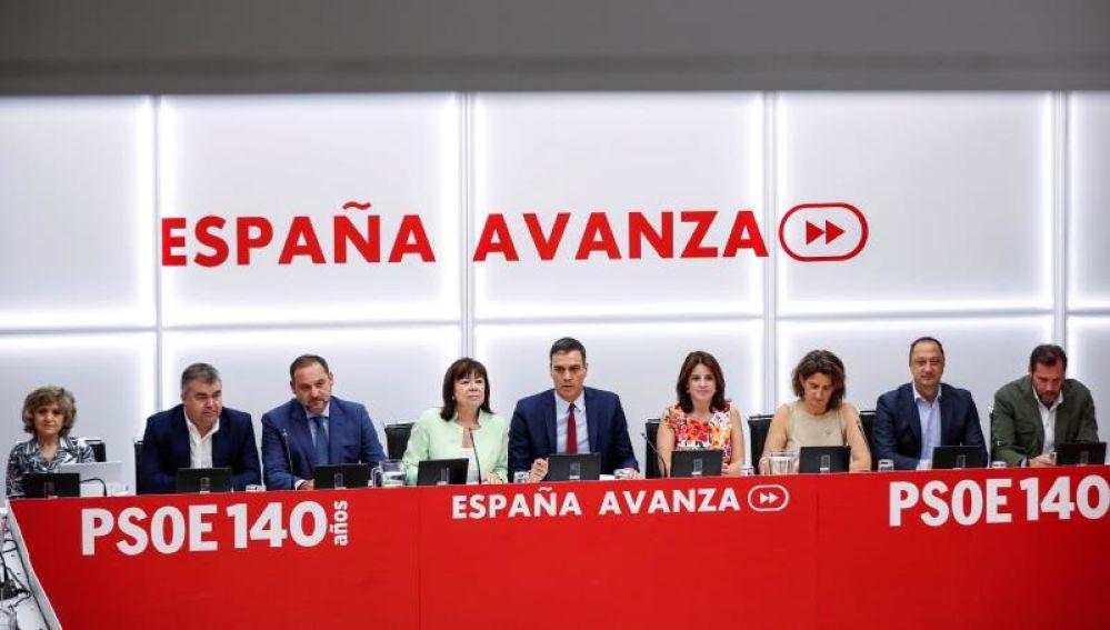 Reunión de la Ejecutiva del PSOE