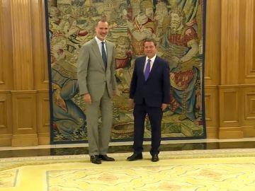 García-Page se reúne con el Rey para presentar su proyecto autonómico