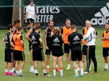 El Real Madrid, entrenando en Montreal