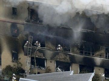 Incendio en Kioto, en un estudio de animación de Japón