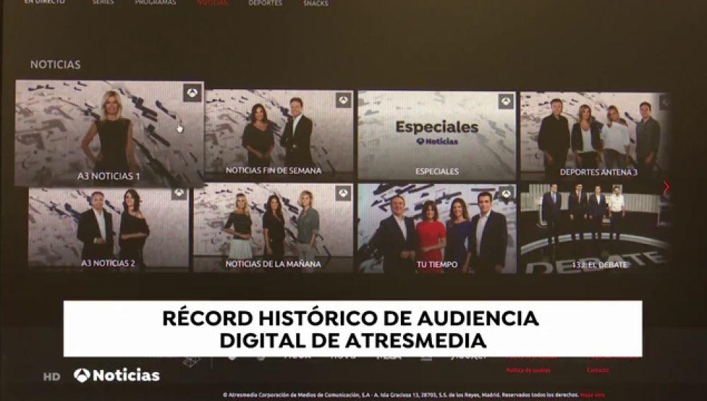La web de Antena 3 supera la barrera de los 11 millones de visitantes en junio