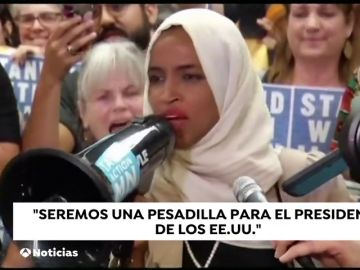 """""""Seremos una pesadilla para Trump"""", asi le responde la congresista Ilhan Omar"""