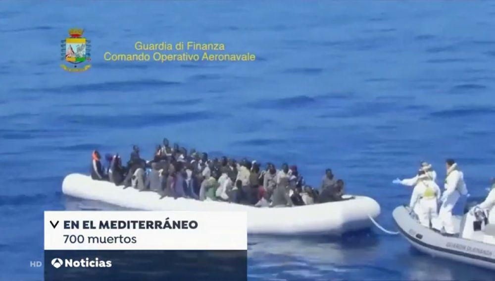 Casi 700 personas han muerto intentando cruzar el Mediterráneo en lo que va de año