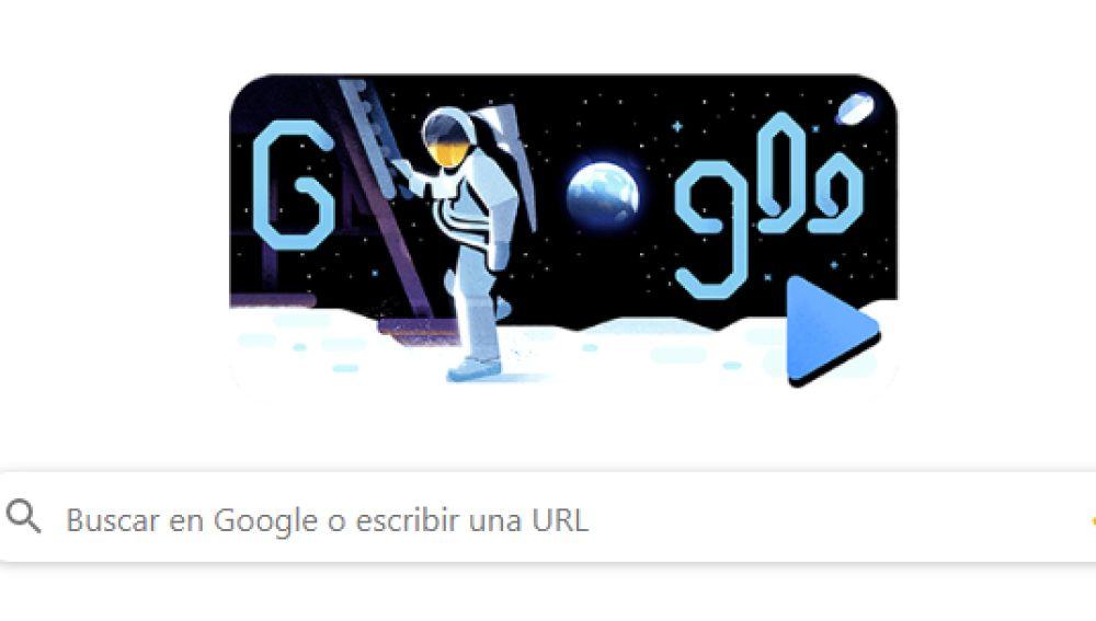 Misión espacial del Apolo 11: 50º aniversario del primer alunizaje, en el 'doodle' de Google