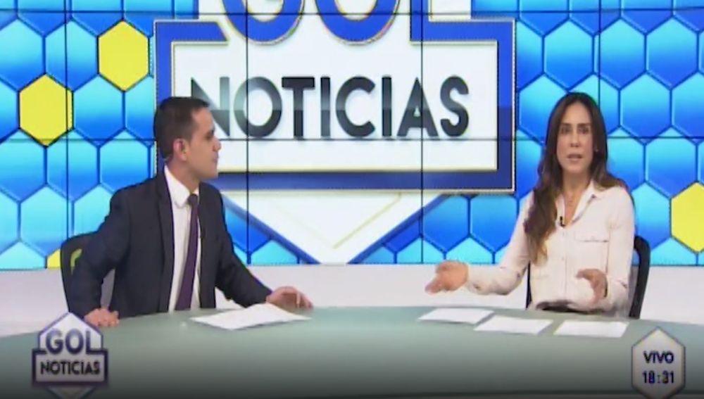 Entrevista en la televisión peruana