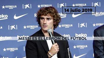 """El lío de Griezmann con """"el LeBron James del fútbol"""": ¿Cristiano Ronaldo o Messi?"""