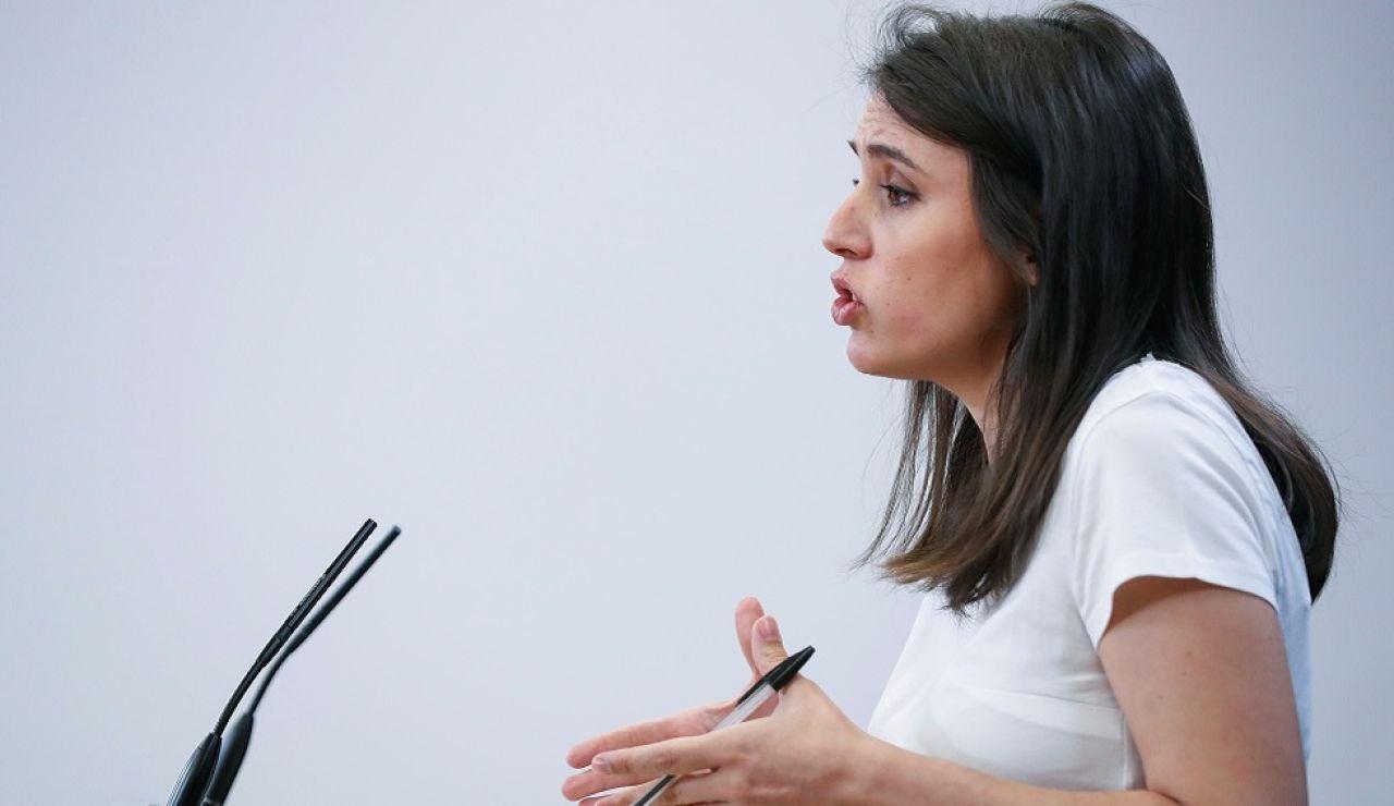 La portavoz de Unidas Podemos, Irene Montero.