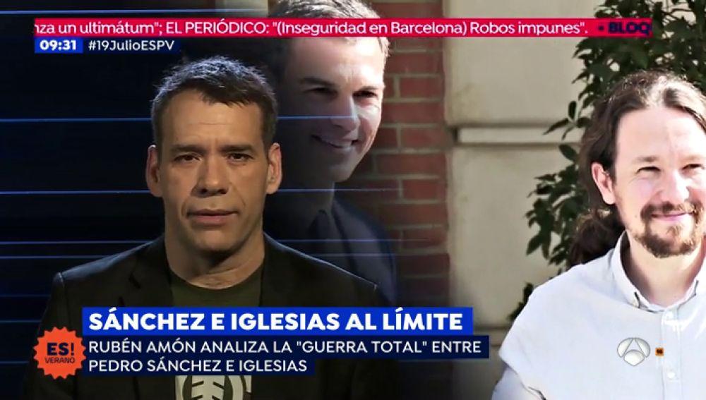Sánchez e Iglesias al límite