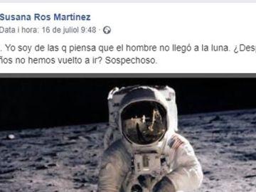 Una diputada del PSOE pone en duda que el hombre pisara la luna