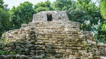 Ruinas mayas en Xcaret