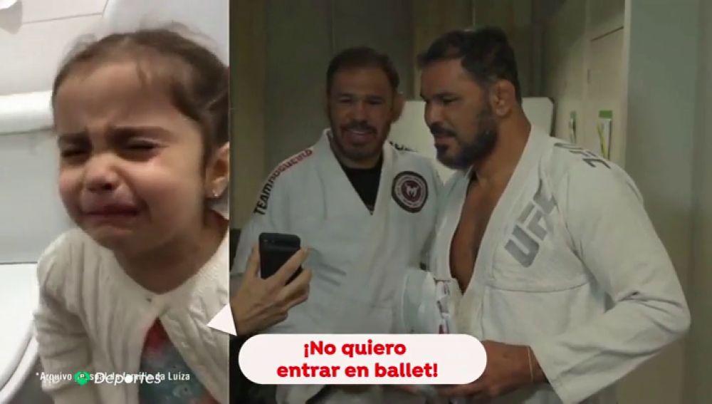 """La curiosa historia de la niña que rompe a llorar porque no quiere apuntarse a ballet: """"Quiero hacer jiu-jitsu"""""""