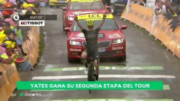 Tour de Francia: Simon Yates gana la 15ª etapa; Alaphilippe sufre pero mantiene el 'maillot' amarillo