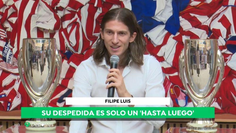 """Filipe Luis se despide del Atlético de Madrid: """"Han sido los mejores años de mi vida"""""""