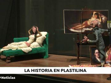 La exposición de plastilina donde cuenta la historia de la humanidad