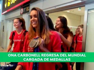 Ona Carbonell regresa a España llena de medallas tras el Mundial de Gwangju