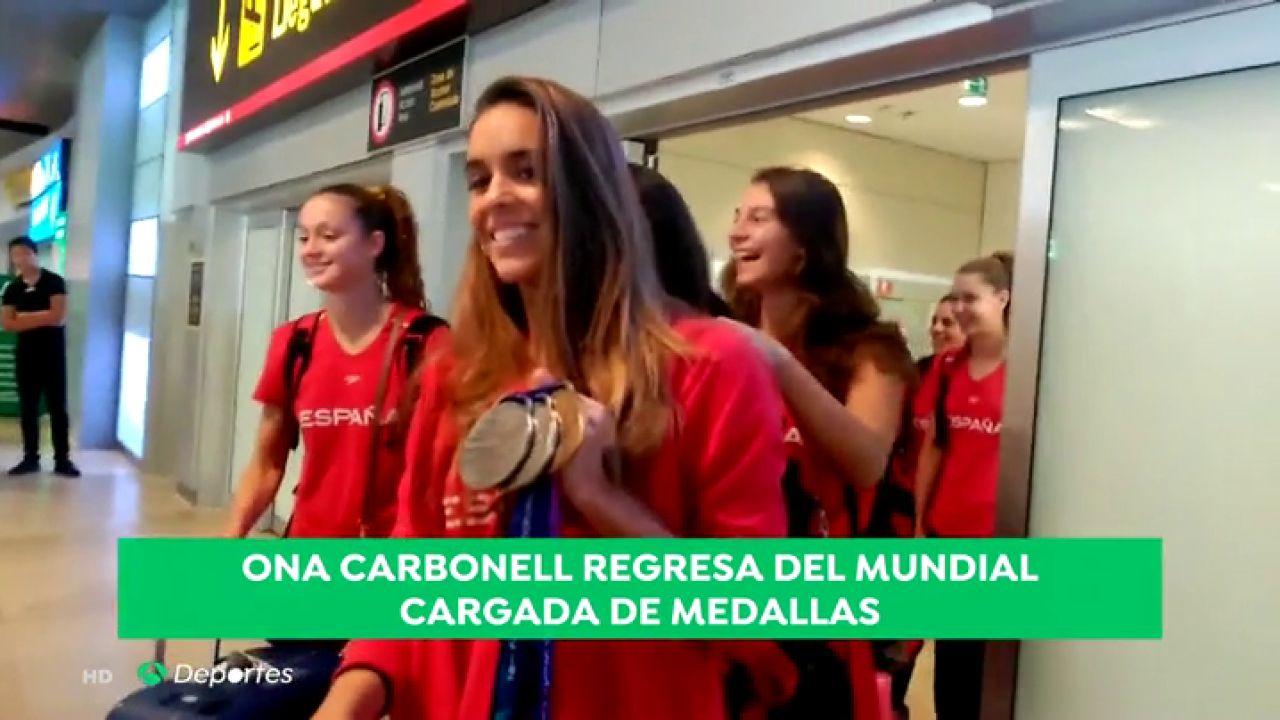 Ona Carbonell regresa a España cargada de medallas tras el Mundial de Gwangju
