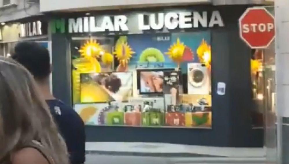 Hackean las pantallas de Milar Lucena con vídeos porno