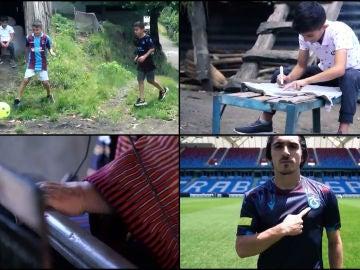 Gerard Piqué se emociona con la nueva camiseta del Trabzonspor turco