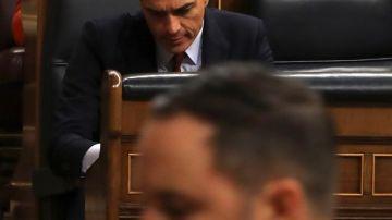 Abascal en el debate de investidura de Sánchez